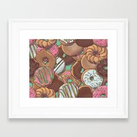 donuts Framed Art Prints featuring Donuts by Mario Zucca