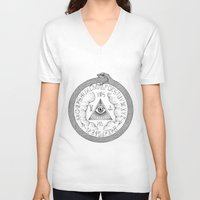 ouija V-neck T-shirts featuring Ouija by oracularcoven