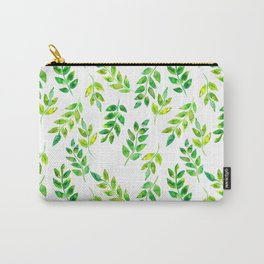 Watercolor palm leaves illustration Carry-All Pouch
