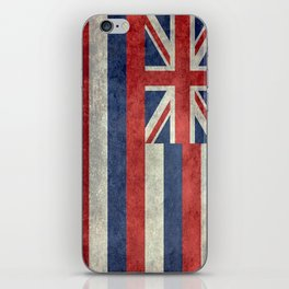 State flag of Hawaii - Vintage version iPhone Skin