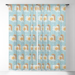 It's Ok to Do Whatever | Spring Weather Sheer Curtain