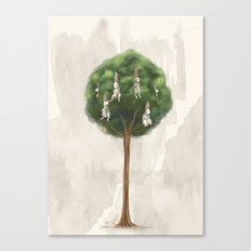 Bunny Tree Canvas Print