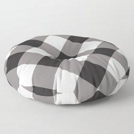 Gingham - Black Floor Pillow