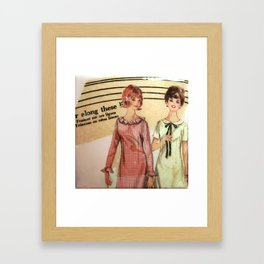 Gather along these lines  Framed Art Print