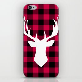Winter Plaid Deer iPhone Skin