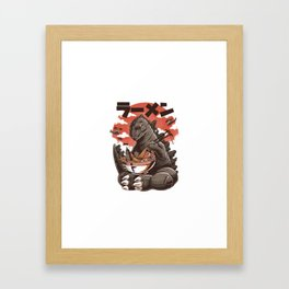 Kaiju's Ramen Framed Art Print
