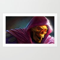 skeletor Art Prints featuring Skeletor by Fabio Leone