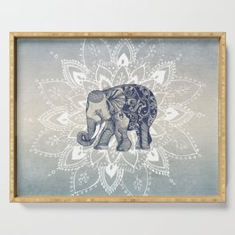 Elephant  Mandala Serving Tray