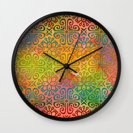 DP050-6 Colorful Moroccan pattern Wall Clock