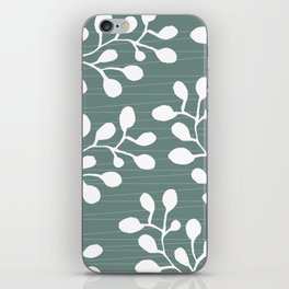 Greenery Leaves on Jade iPhone Skin
