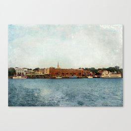 Wilmington, NC on the Cape Fear River Canvas Print