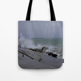 The Gale of Halloween '14 (Chicago Waves Collection) Tote Bag