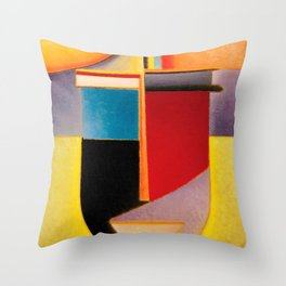 Alexej von Jawlensky - Abstrakter Kopf Sonne, Farbe, Leben - Abstract Head Sun, Color, Life Throw Pillow