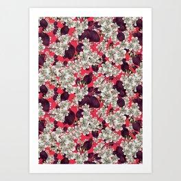 silver blossoms Art Print