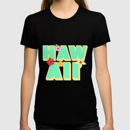 Hawaii lettering | Orchids Flowers USA T-shirt