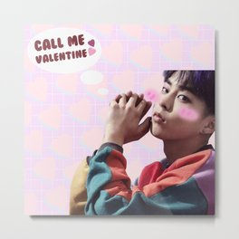 Call Me Valentine - Xiumin Metal Print