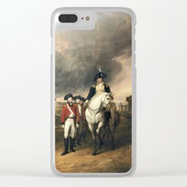 The Surrender of Lord Cornwallis at Yorktown John Trumbull Print Poster Clear iPhone Case