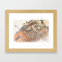 Cafe Cuatro Gatos Framed Art Print