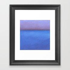 Blue sea Purple sky Framed Art Print