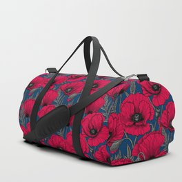 Night poppy garden  Duffle Bag