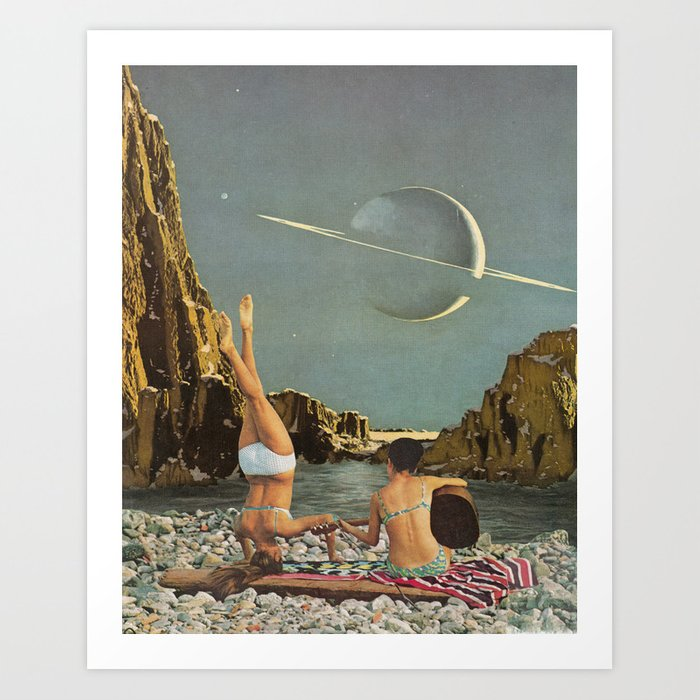 Serenade to Saturn Art Print