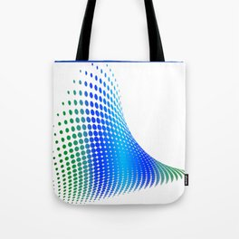 Glitch in the Dot Matrix (Blue) Tote Bag