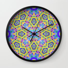 Persian kaleidoscopic Mosaic G521 Wall Clock