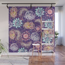 Purple Galaxy Dreams Wall Mural