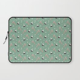 Christmas Candy Cane And Ornament Decor Laptop Sleeve