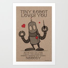 Tiny Robot Art Print