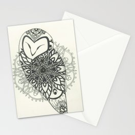 OWL MANDALA Stationery Cards