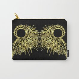 GOLDEN CURL - SHINING PAINTING ON BLACK BACKGROUND Carry-All Pouch