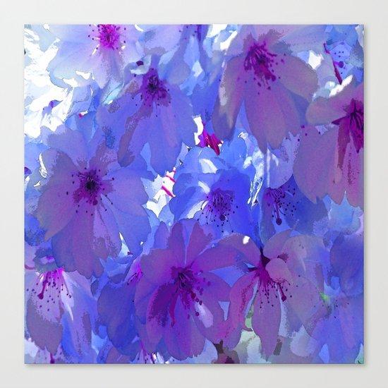 Blue Cherry Blossoms Canvas Print