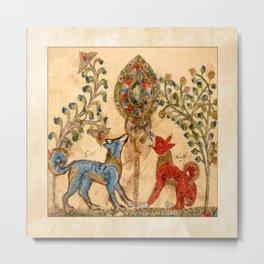 Medieval Syrian Jackals Metal Print