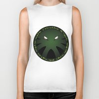 cthulu Biker Tanks featuring Cthulu Roundel by Hans Mills