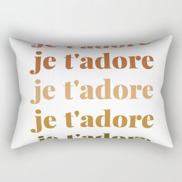 je t'adore in earthy colors Rectangular Pillow