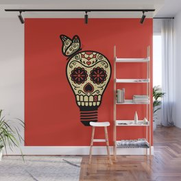 Noche de los Muertos - Rojo Wall Mural