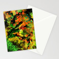 Abstract Art with flowers Stationery Cards