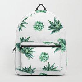 Green Watercolor Succulents Backpack