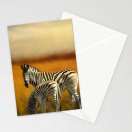 Zebra Family Stationery Cards