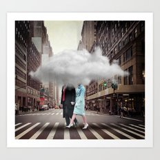 Under a Cloud Art Print