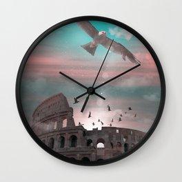 Colloseum Rome Italy Imagination Fantasy Wall Clock