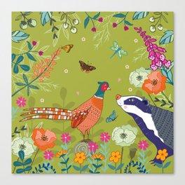 Very Pheasant to Meet You Canvas Print