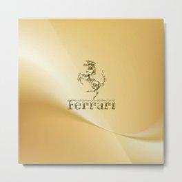 Ferari Gold Metal Print