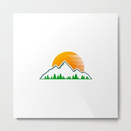 Hiking Lover Hiker | Mountains Gift Idea Metal Print