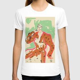 WOMAN IN A TERRACOTTA DRESS T-shirt