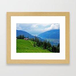 Above Interlaken Framed Art Print