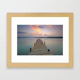 Dock Days Framed Art Print