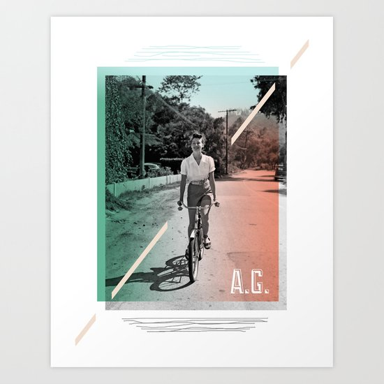 A.G. Collage Art Print