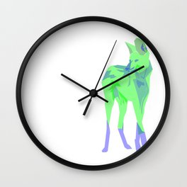 Maned Wolf Wall Clock